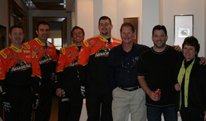 Tony Stewart and his Pit Crew